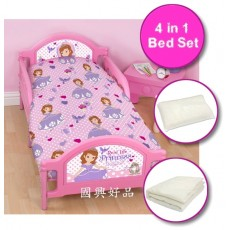 Sofia The First 4 in 1 Bed Set for Junior