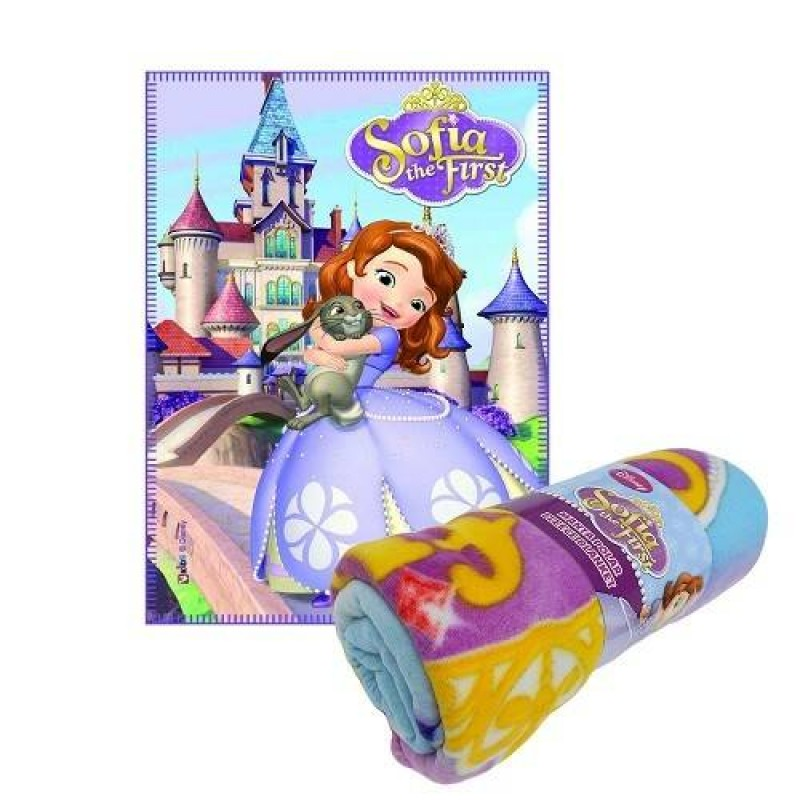 Sofia The First 公主城堡毛毯
