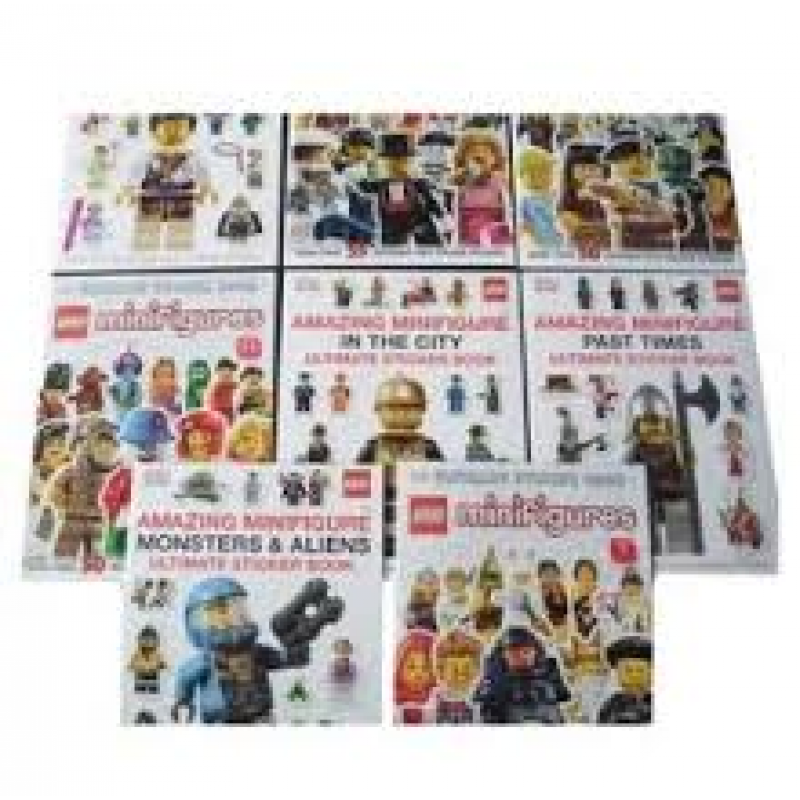 Minifigure Sticker Collection - 8 Books