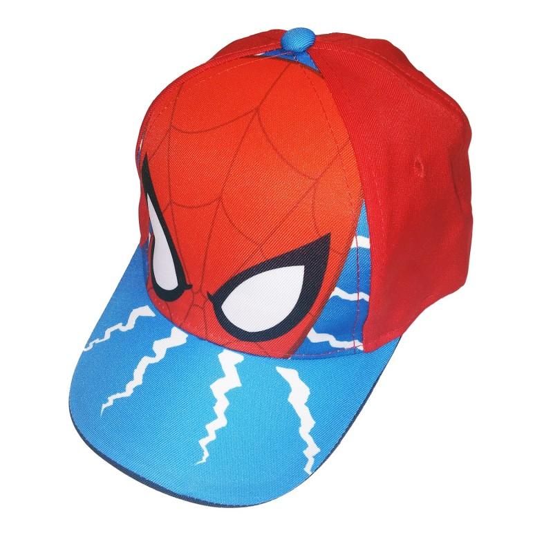 Spiderman 紅底裂紋Cap帽